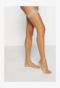 KUNERT - BEAUTY - Over-the-knee socks - cashmere - 1