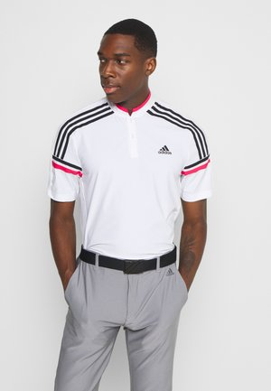 PERFORMANCE SPORTS GOLF SHORT SLEEVE - Poloshirts - white/power pink