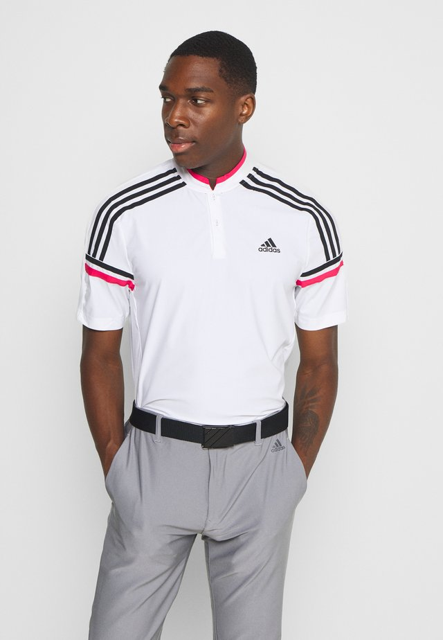 PERFORMANCE SPORTS GOLF SHORT SLEEVE - Polotričko - white/power pink