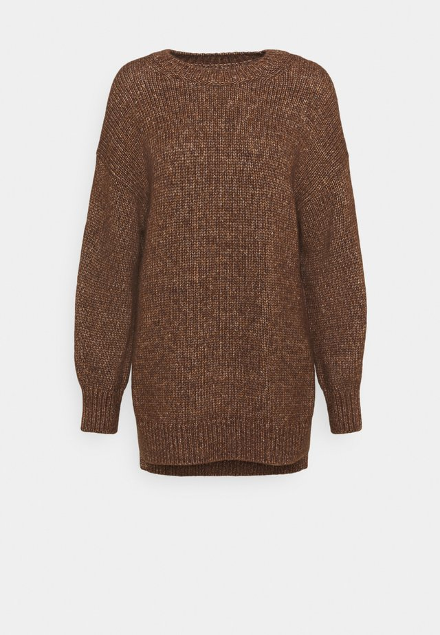 LONGSLEEVE ROUND NECK - Neule - chestnut brown