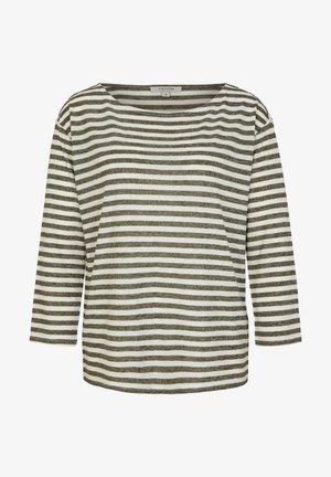 Long sleeved top - khaki stripes