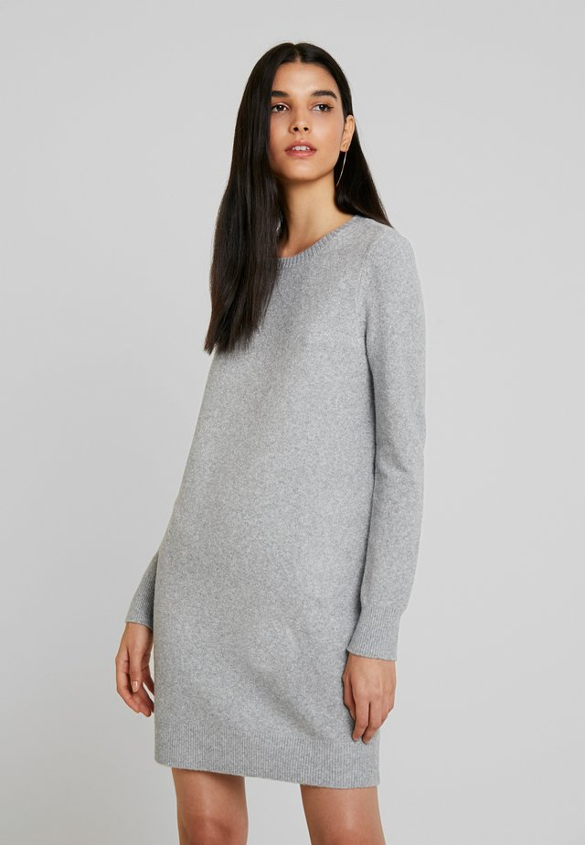 VMDOFFY O-NECK DRESS - Jumper dress - light grey melange