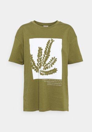 SHORTSLEEVE ROUNDNECK - T-shirt imprimé - olive