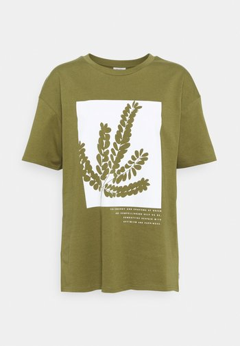 SHORTSLEEVE ROUNDNECK - Print T-shirt - olive