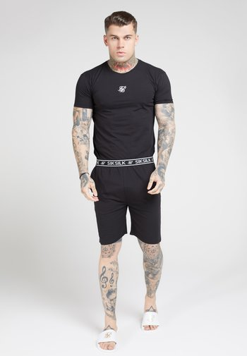 SIKSILK 2 PACK TEE - T-shirt med print - black/grey marl