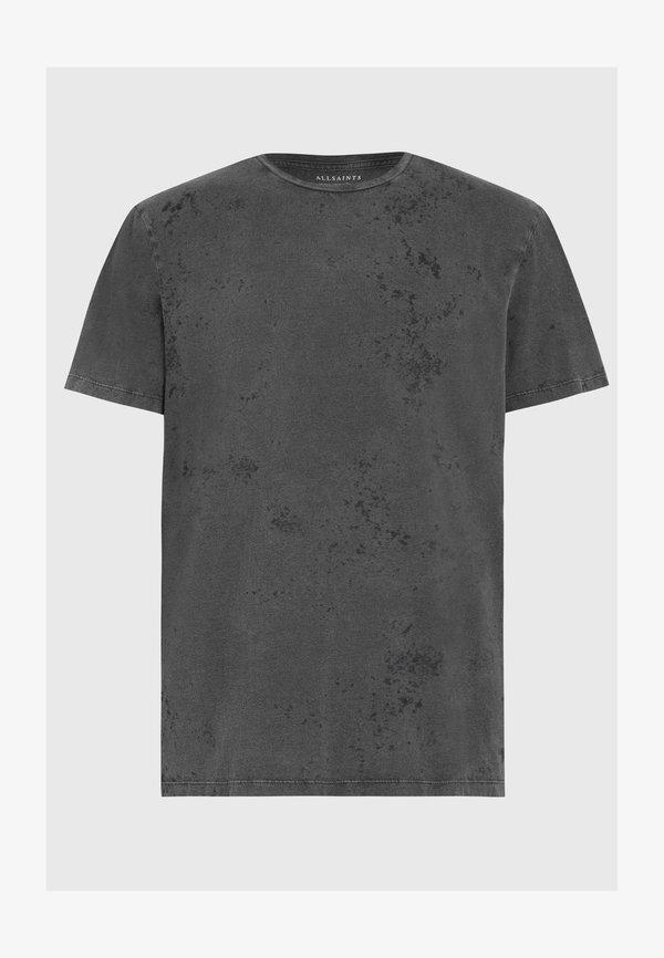 AllSaints WYATT - T-shirt basic - black/czarny Odzież Męska UOUV