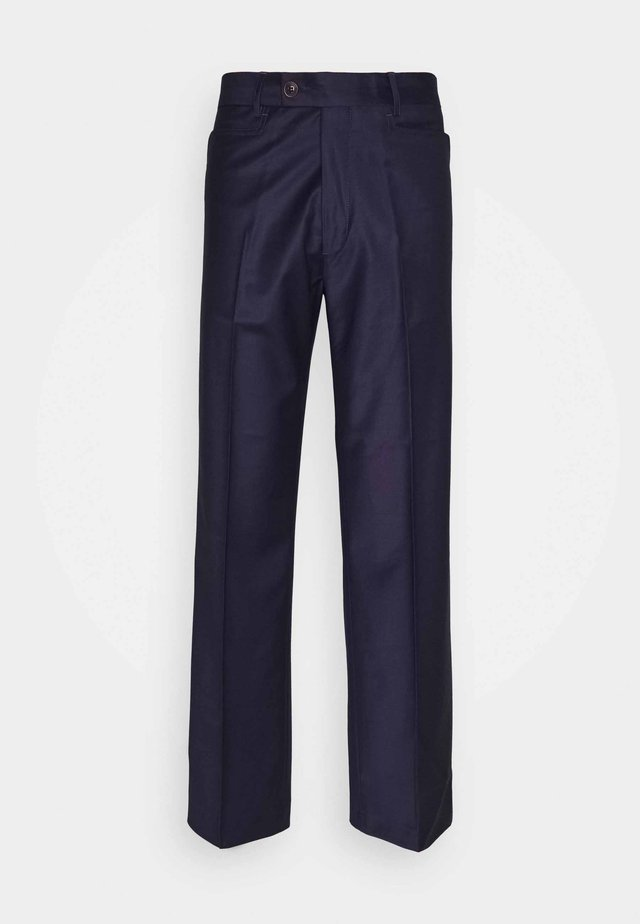 BRUCE TROUSERS - Kangashousut - dark purple