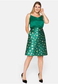 Sheego - A-line skirt - powergrün - 1