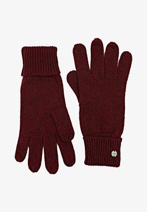 Gloves - bordeaux red