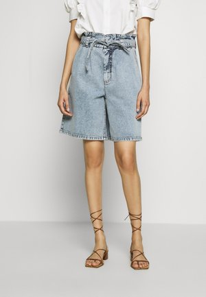 ATICA - Denim shorts - light blue