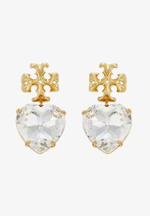 CARVED KIRA HEART EARRING - Orecchini - crystal