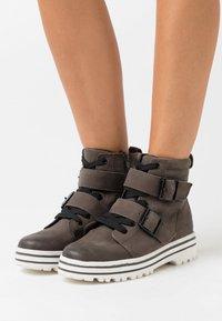 Jana - Platform ankle boots - graphite - 0