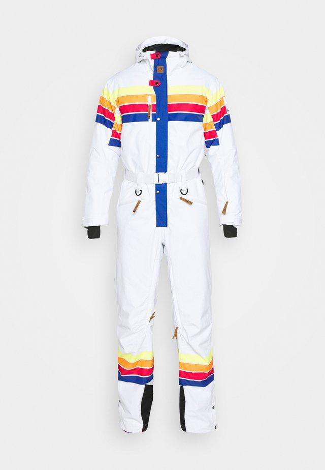 RICKY BOBBY UNISEX FIT - Pantalon de ski - white