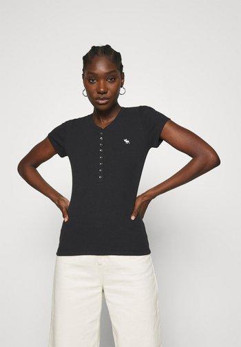 HENLEY - Basic T-shirt - black