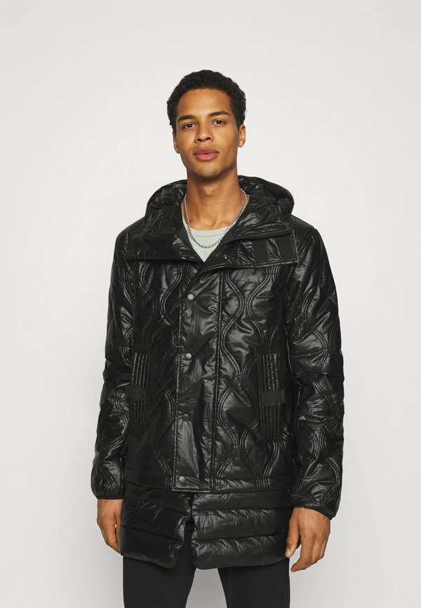 Diesel CRAWFORD SHINY GIACCA - Płaszcz zimowy - black/czarny Odzież Męska MDNO