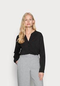 edc by Esprit - HENLEY BLOUSE - Blouse - black - 0