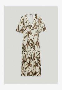 Massimo Dutti - MIT BLÄTTERPRINT  - Day dress - white - 3