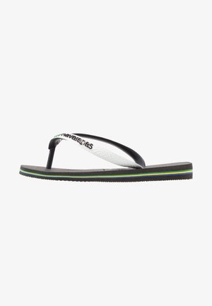 BRASIL MIX - Pool shoes - black/ white