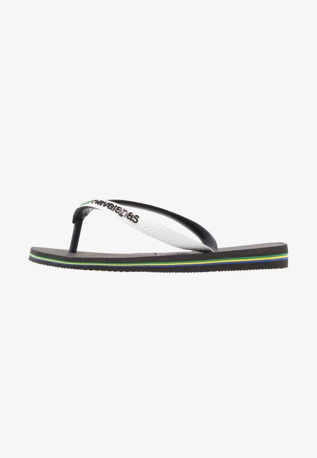 BRASIL MIX - Pool shoes - black/ white