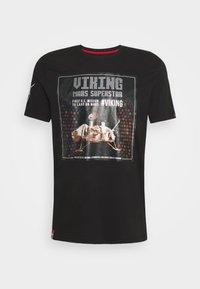 Alpha Industries - SUPERSTAR - Print T-shirt - black/chrome - 0