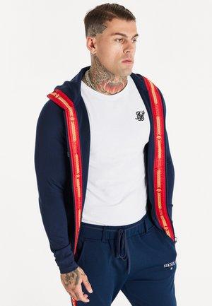 INSET CROWN ZIP THROUGH HOODIE - Training jacket - navy/red