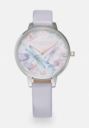 PAINTERLY PRINTS - Montre - silver-coloured/white