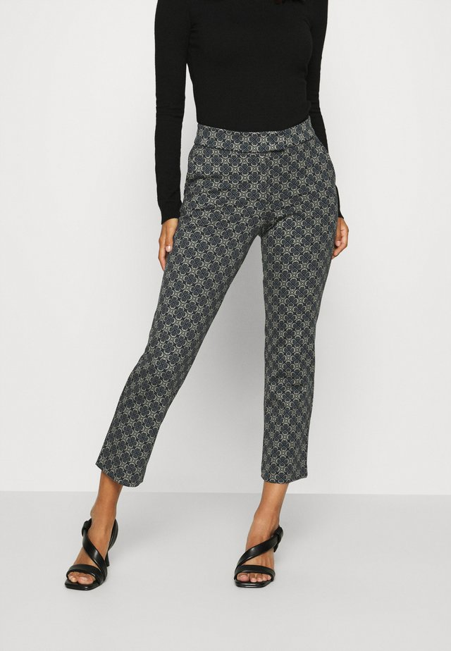 CROPPED PANTS - Kangashousut - royal blue