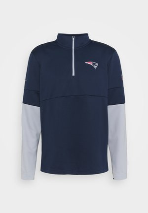 NFL NEW ENGLAND PATRIOTS TEAM HALF ZIP THERMA - Club wear - college navy/wolf grey