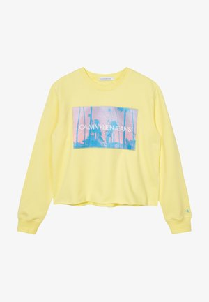 PHOTO PRINT SWEATSHIRT - Sweater - yellow