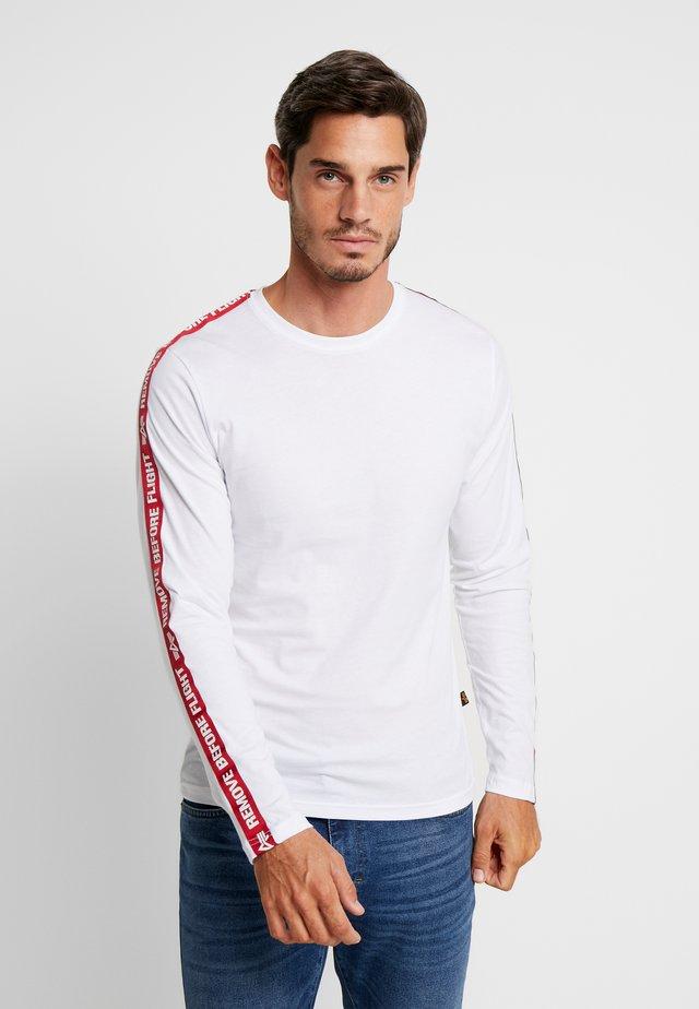 TAPE  - T-shirt à manches longues - white