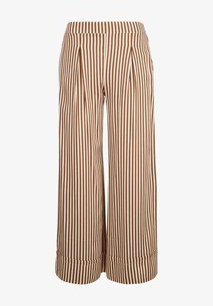 Trousers -  ecru /marron