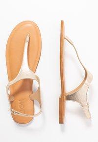 Zign - T-bar sandals - gold - 3