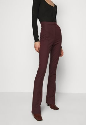 FLARED TROUSERS - Pantaloni - violet swan