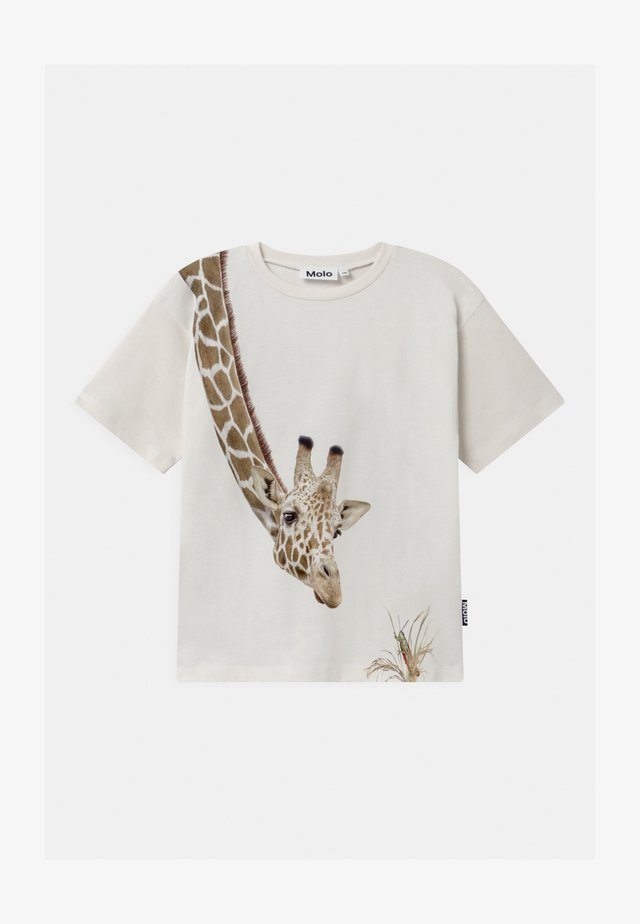 RILLO - Print T-shirt - white star