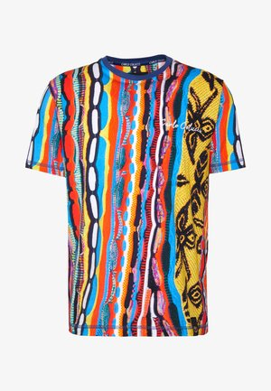 Print T-shirt - indigo/red/yellow