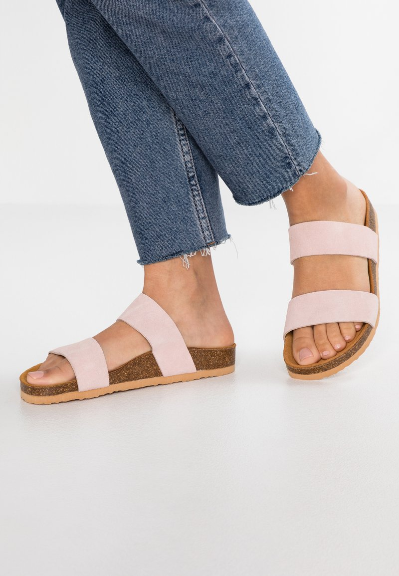 Bianco - BIABETRICIA TWIN STRAP - Slippers - light pink
