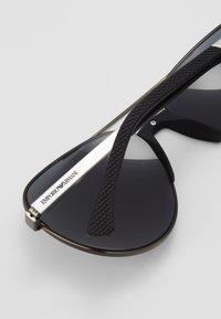 Emporio Armani - Sunglasses - matte gunmetal/ light grey - 3