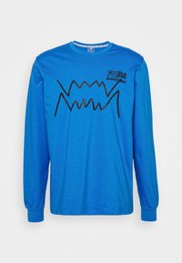 HOOPS PULL UP TEE - Maglietta a manica lunga - palace blue