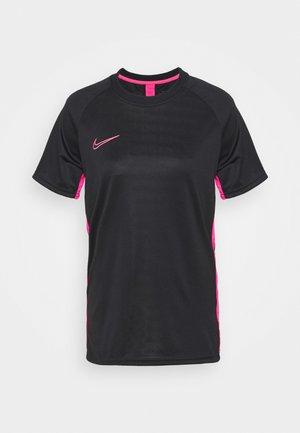 DRY ACADEMY - T-shirt print - black/hyper pink