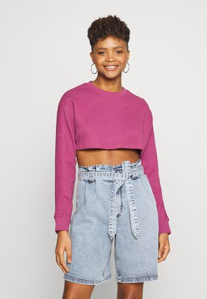 CREW CROP - Mikina - mulberry rose