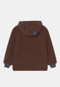 Finkid - TONTTU NALLE UNISEX - Fleece jacket - cocoa/navy - 1