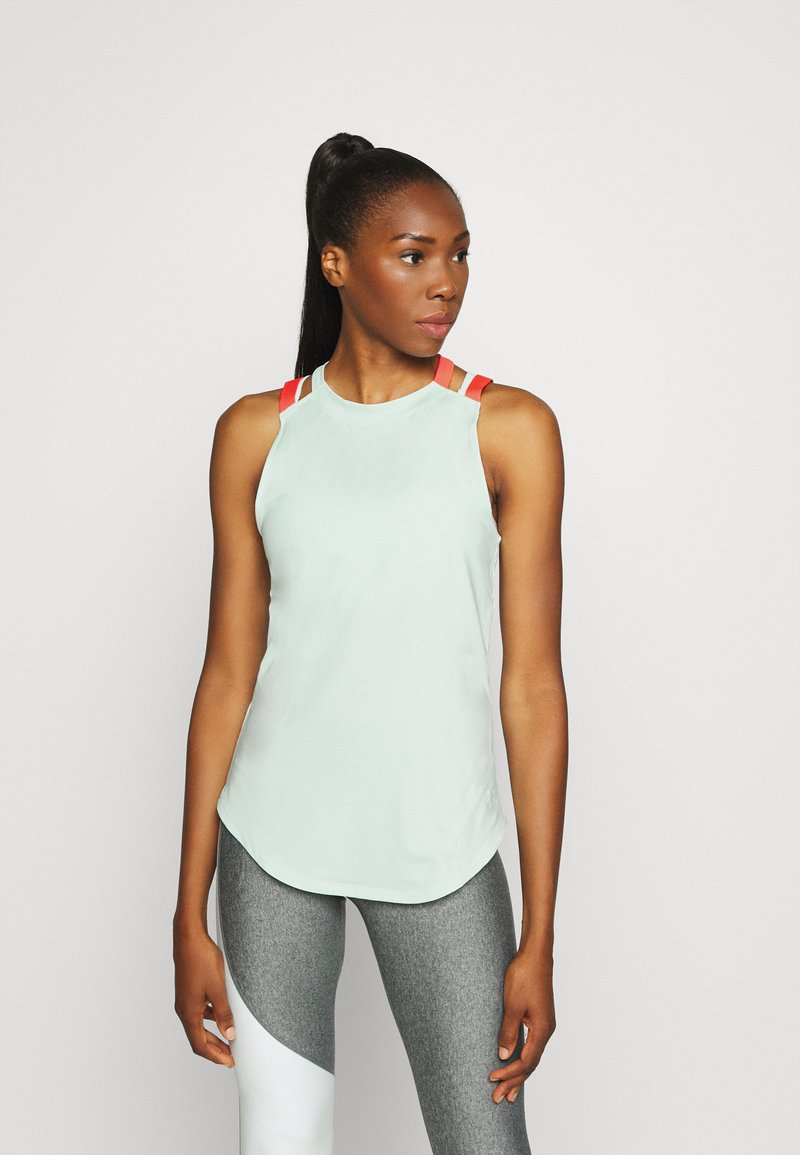 Under Armour - SPORT 2 STRAP TANK - Treningsskjorter - seaglass blue