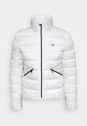 LOGO FITTED PUFFER - Winter jacket - bright white