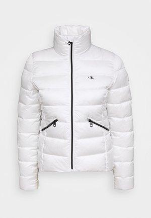 LOGO FITTED PUFFER - Vinterjakke - bright white
