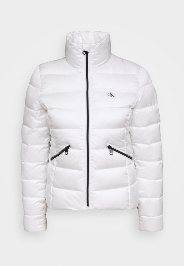 LOGO FITTED PUFFER - Kurtka zimowa - bright white