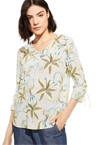 comma casual identity - Blouse - white flowers & dots - 5