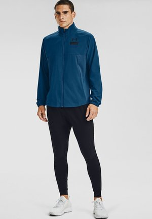 SUMMER WOVEN FZ - Training jacket - graphite blue