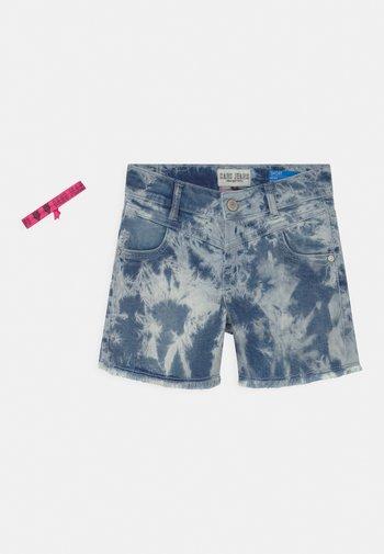 MAYSA - Denim shorts - bleached denim