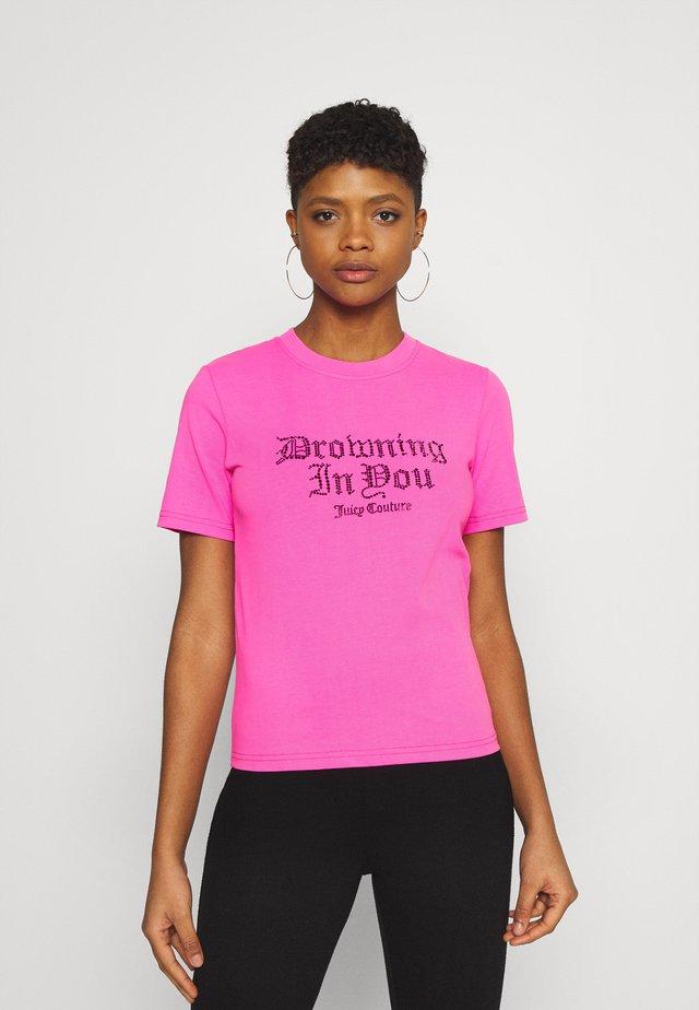 DROWNING  - T-shirt imprimé - pink