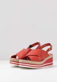 Pons Quintana - Platform sandals - coral - 4